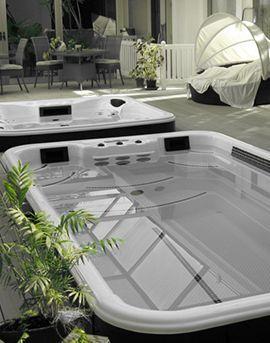 Aqua Détente Luxembourg aménagement d'une terrasse avec une piscine spa nage