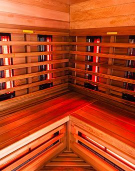 Aqua Détente Luxembourg - cabine infrarouge bois