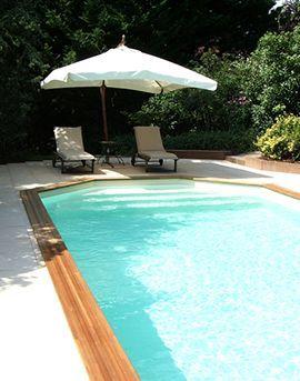 Aqua Détente Luxembourg piscine enterrée terrasse bois terrasse pierre