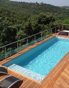 Aqua Détente Luxembourg piscine enterrée terrasse bois terrasse bois